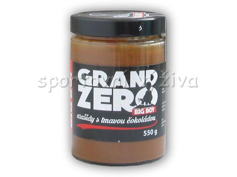 Grand zero <b>arašídový</b> krém tmavá čoko 550g