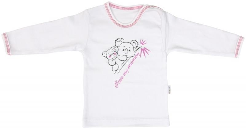 Bavlněné tričko Mamatti KOALA - dlouhý rukáv - 86 (12-18m)
