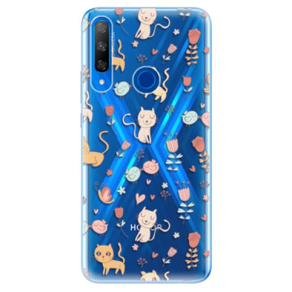 Odolné silikonové pouzdro iSaprio - Cat pattern 02 - Huawei Honor 9X