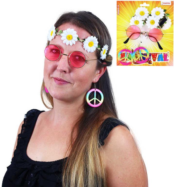 KKARNEVAL Kopretina hippies doplňky set 3ks KARNEVALOVÝ DOPLNĚK