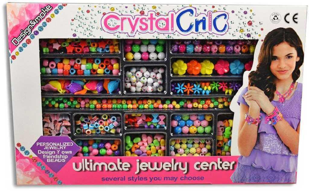 Korálky navlékací kreativní velká sada dětská bižuterie v krabičce
