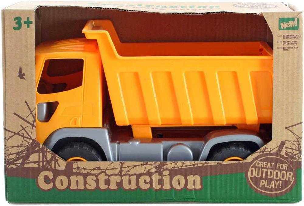 Auto nákladní sklápěčka oranžová 24cm na písek v krabici plast