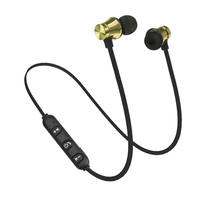 Bluetooth sluchátka na magnet - Černo-zlatá