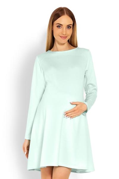 Elegantní volné těhotenské šaty dl. rukáv