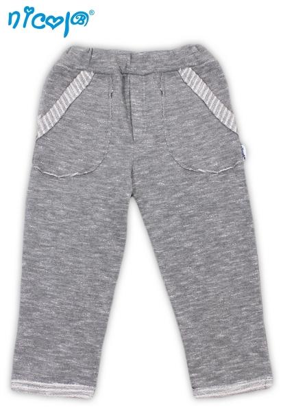 Tepláčky/kalhoty Football - šedé, vel.