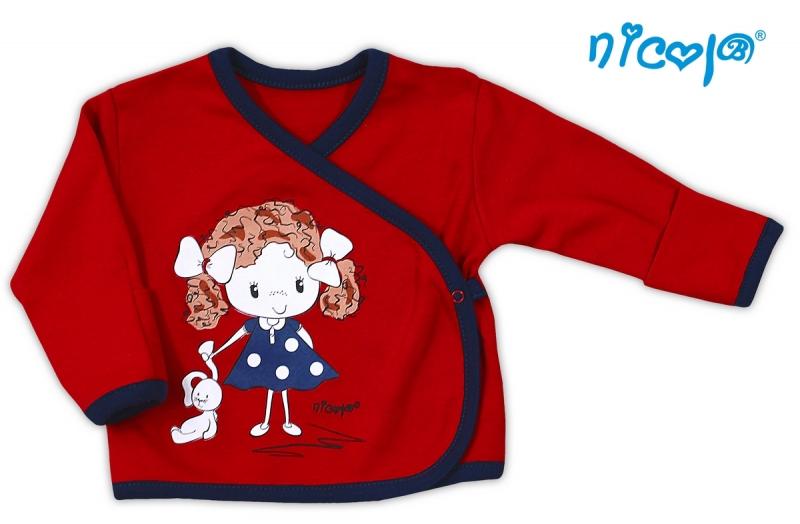 Bavlněná košilka NICOL ALA - Holčička v červeném