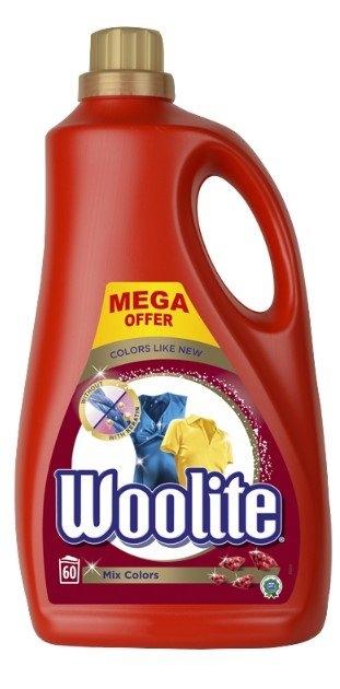 Woolite Mix Colors prací gel, 3,6 l, 60 praní