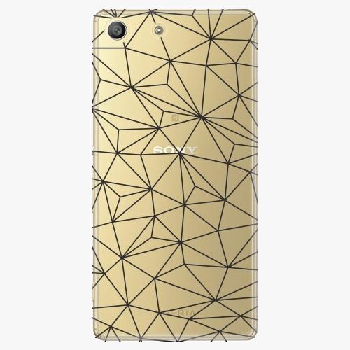 Plastový kryt iSaprio - Abstract Triangles 03 - black - Sony Xperia M5