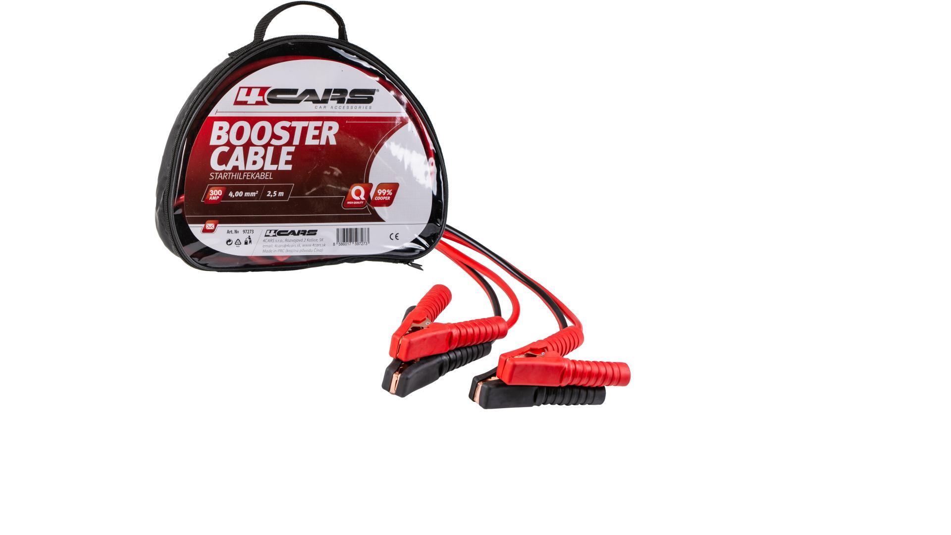 CARS Startovací kabel - izolované kleště 300AMP, 4.0MM², 2,5M