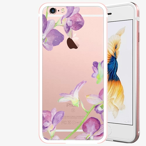 Plastový kryt iSaprio - Purple Orchid - iPhone 6 Plus/6S Plus - Rose Gold