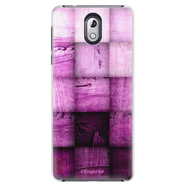 Plastové pouzdro iSaprio - Purple Squares - Nokia 3.1