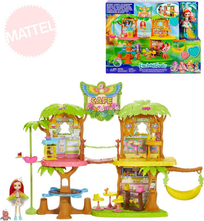 MATTEL Enchantimals kavárna v džungli herní set s panenkou a zvířátkem