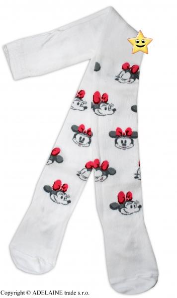 Bavlněné punčocháčky Disney Minnie - bílé - 92 (18-24m)/98 (24-36m)