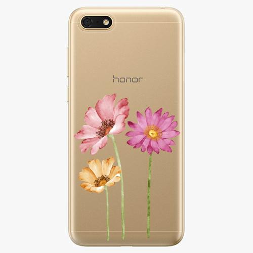 Silikonové pouzdro iSaprio - Three Flowers - Huawei Honor 7S