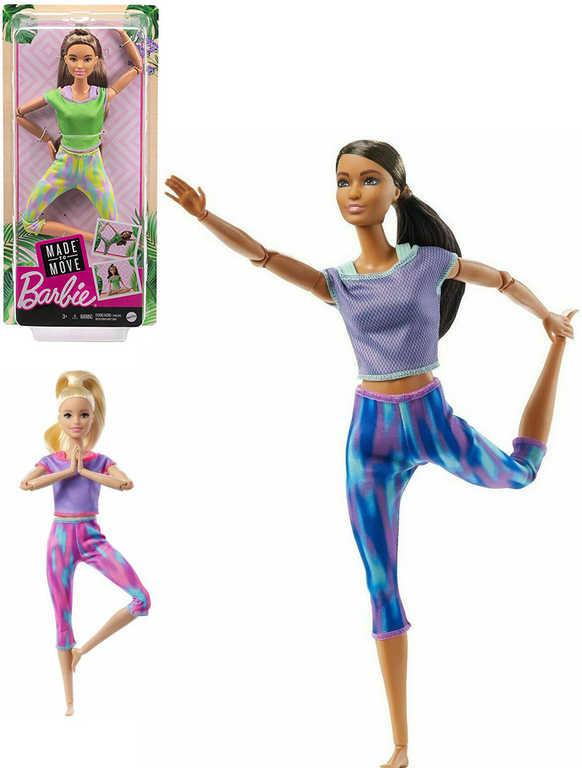 MATTEL BRB Barbie v pohybu 29cm kloubová panenka 4 druhy