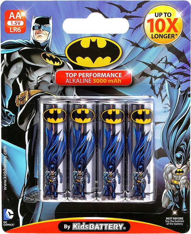 Baterie Batman AA (LR6) Alkaline 1,5V set 4ks na kartě