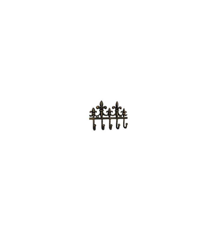 Kovový věšák - háček Královská lilie