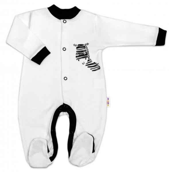 Baby Nellys Bavlněný overálek Zebra