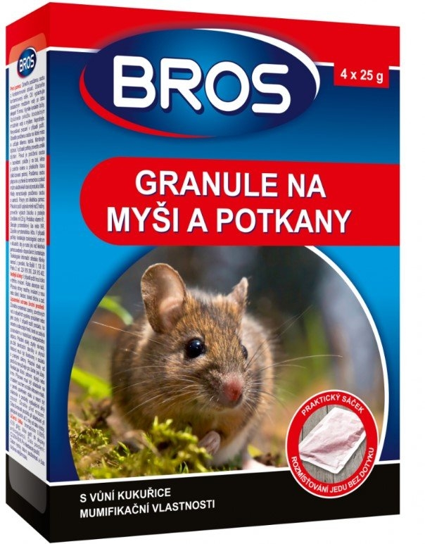 Granulát proti myším a potkanům, 140 g