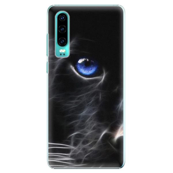 Plastové pouzdro iSaprio - Black Puma - Huawei P30
