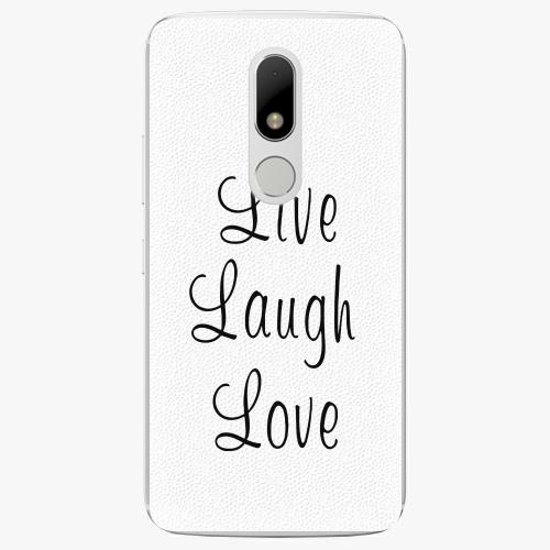 Plastový kryt iSaprio - Live Laugh Love - Lenovo Moto M