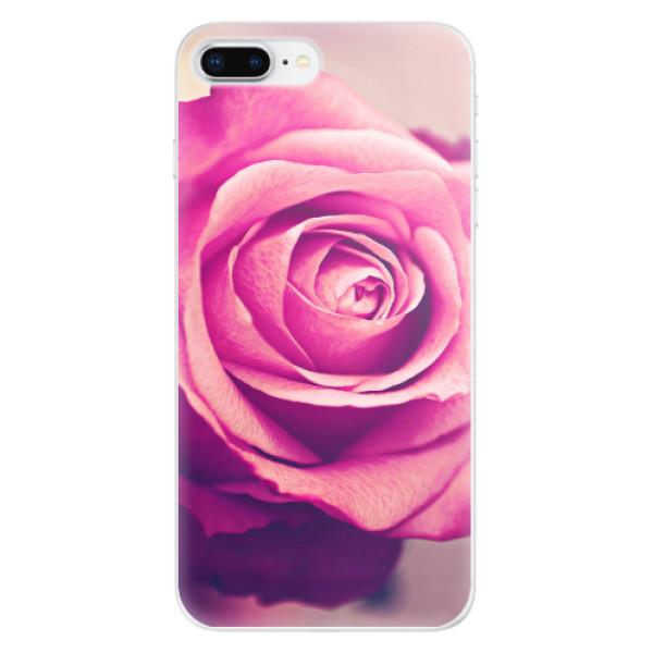 Odolné silikonové pouzdro iSaprio - Pink Rose - iPhone 8 Plus