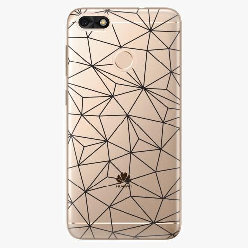 Plastový kryt iSaprio - Abstract Triangles 03 - black - Huawei P9 Lite Mini