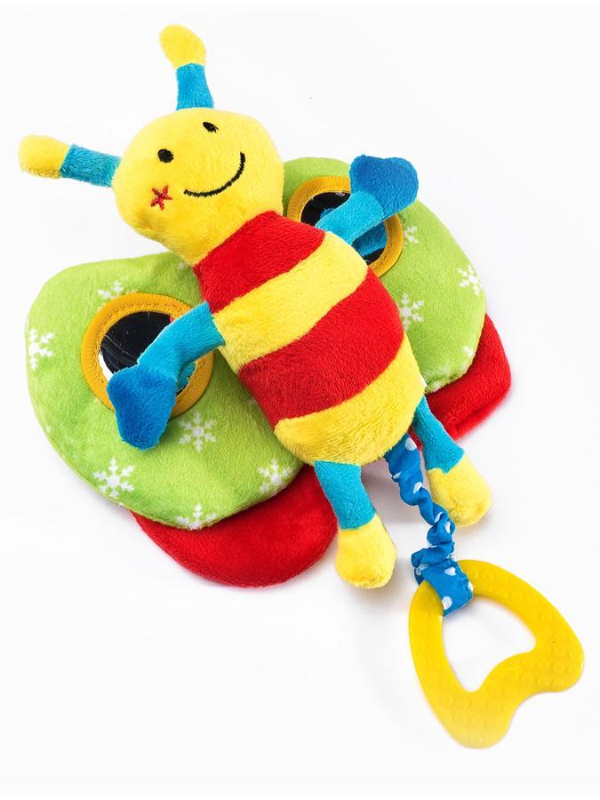 Edukační plyšová hračka Sensillo motýlek s pískátkem - žlutá