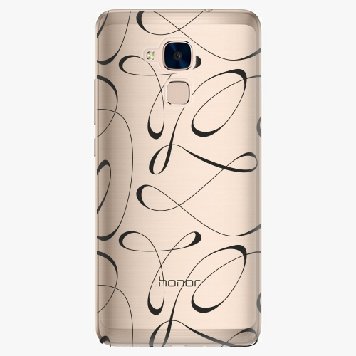 Plastový kryt iSaprio - Fancy - black - Huawei Honor 7 Lite