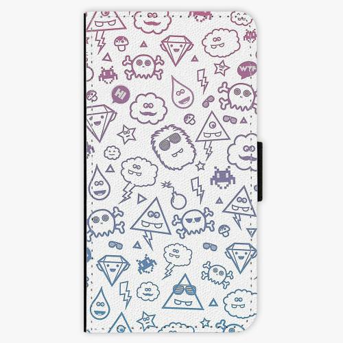 Flipové pouzdro iSaprio - Funny Clouds - Samsung Galaxy J5