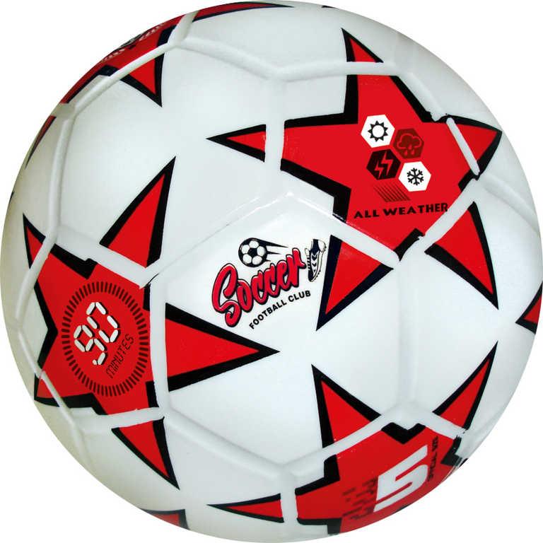 Míč Soccer Club fotbalový červený 360g vel.5 do každého počasí