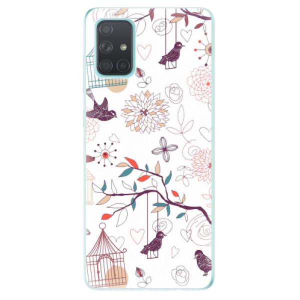 Odolné silikonové pouzdro iSaprio - Birds - Samsung Galaxy A71