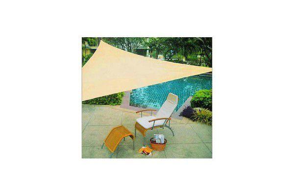 Stínící zahradní plachta trojúhelníková 3,6 m - písková barva