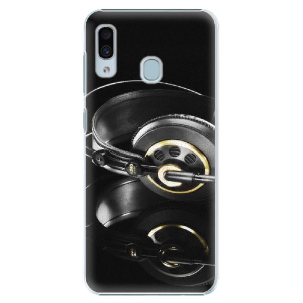 Plastové pouzdro iSaprio - Headphones 02 - Samsung Galaxy A20