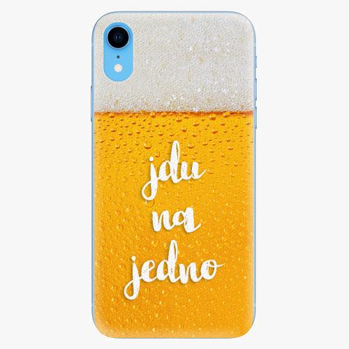 Silikonové pouzdro iSaprio - Jdu na jedno - iPhone XR