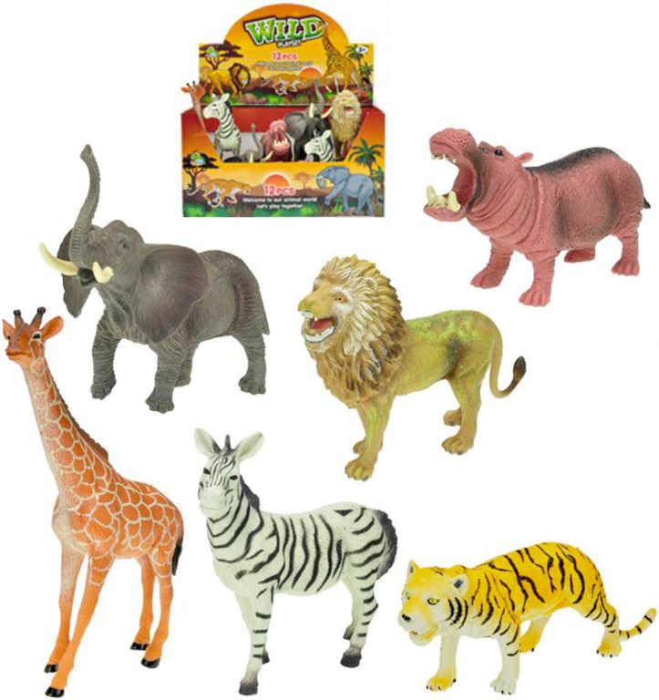 Zvířátka safari 15-20 cm plastová figurka - 6 druhů