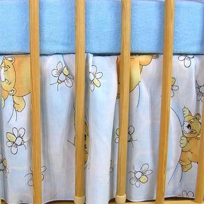 VÝPRODEJ Krásný volánek pod matraci - Včelka modrá - 120x90