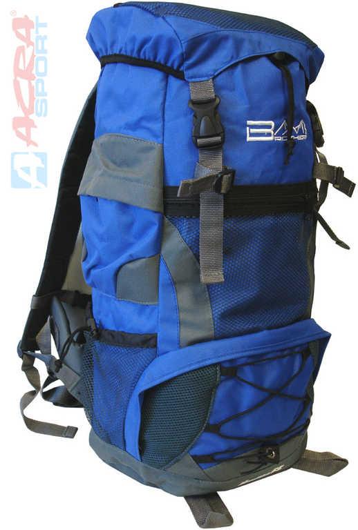 ACRA Batoh turistický 55l modrý 2 komory 30x22x56cm Brother BA55
