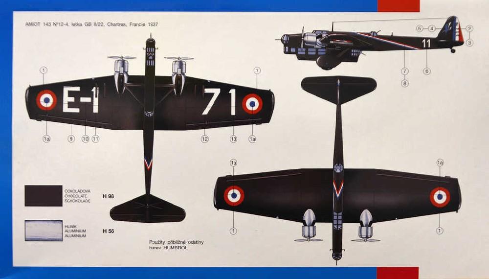 SMĚR Model letadlo Amiot 143 1:72 (stavebnice letadla)