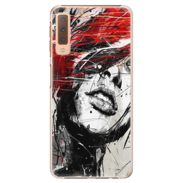 Plastové pouzdro iSaprio - Sketch Face - Samsung Galaxy A7 (2018)