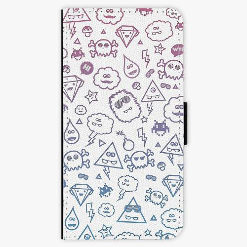 Flipové pouzdro iSaprio - Funny Clouds - Sony Xperia X Compact