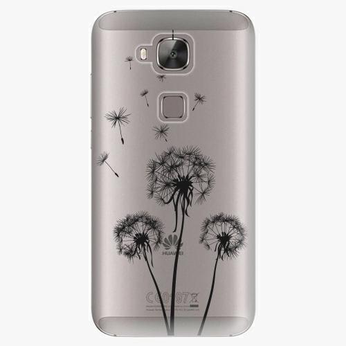 Plastový kryt iSaprio - Three Dandelions - black - Huawei Ascend G8