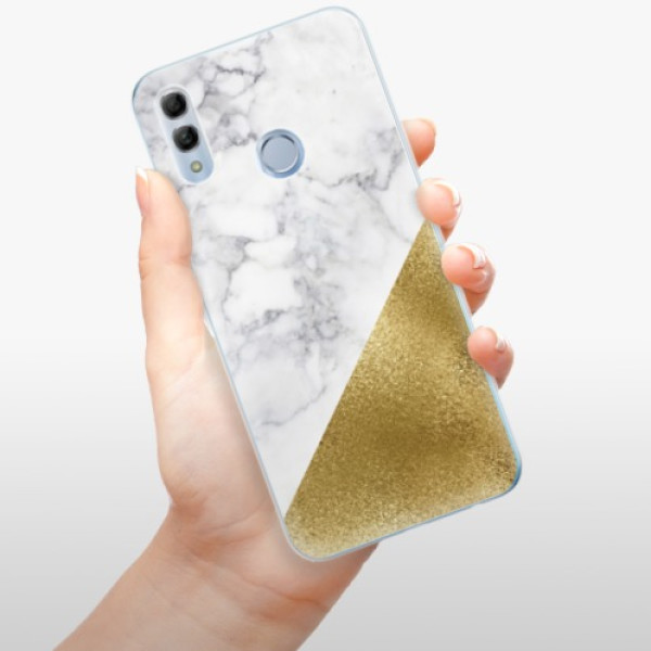 Odolné silikonové pouzdro iSaprio - Gold and WH Marble - Huawei Honor 10 Lite