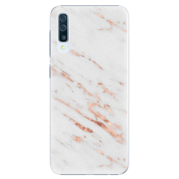 Plastové pouzdro iSaprio - Rose Gold Marble - Samsung Galaxy A50