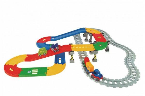 Play Tracks vlak s kolejemi plast a doplňky v krabici