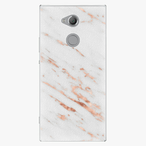 Plastový kryt iSaprio - Rose Gold Marble - Sony Xperia XA2 Ultra