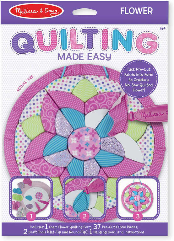 Melissa-Doug Quilting vyšívání bez jehly květina kreativní holčičí sada