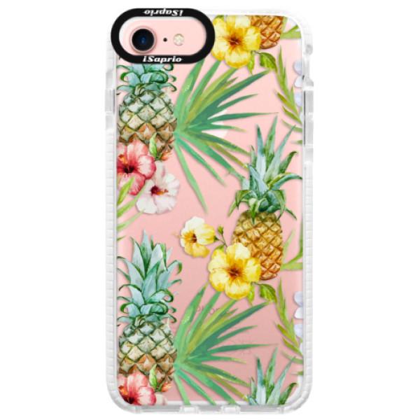 Silikonové pouzdro Bumper iSaprio - Pineapple Pattern 02 - iPhone 7