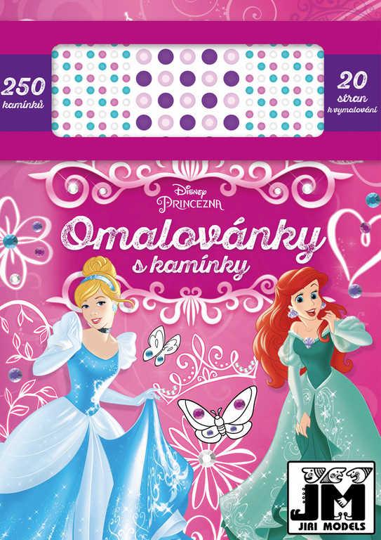 JIRI MODELS Omalovánky s kamínky Disney Princess