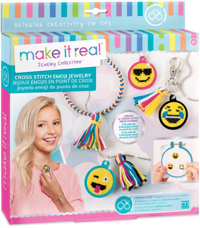 Náramky a náhrdelník smajlíci dětský kreativní set s korálky a doplňky